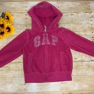 Girls pink zip up by Gap. Size 8 medium
